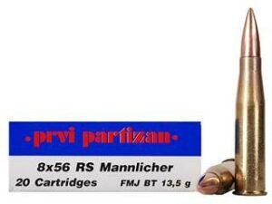 Prvi Partizan 8x56 RS Mannlicher 208gr FMJ (20 Rounds)