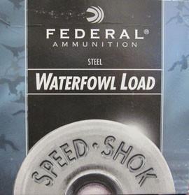 "Federal Speed-Shok Waterfowl Load 12 Gauge 3"" 1 1/8 Oz. BBB (25 Shells)"