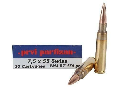 Prvi Partizan 7.5x55 Swiss 174gr FMJ (20 Rounds)