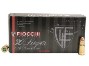 Fiocchi 30 Luger 93 Grain Full Metal Jacket Box of 50
