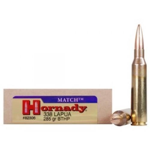 Hornady Match .338 Lapua Magnum 285gr BTHP 20rds