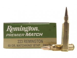 Remington Premier Match Ammunition 223 Remington 69 Grain Sierra Matchking Hollow Point (20 Rounds)