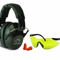 Walkers Low Profile Folding Ear/Eye Protection Set