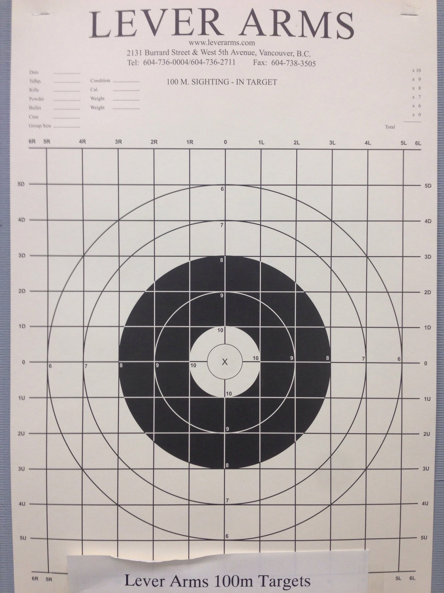 Lever Arms Match or Sight-In Targets 20 Pack