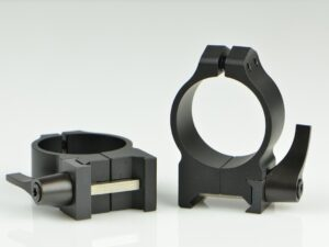 Warne 30mm QD Black Matte Med. Rings
