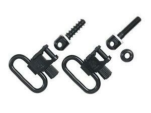 Uncle Mike's Quick Detachable Wood Screw Type Sling Swivel Set Black MO10012